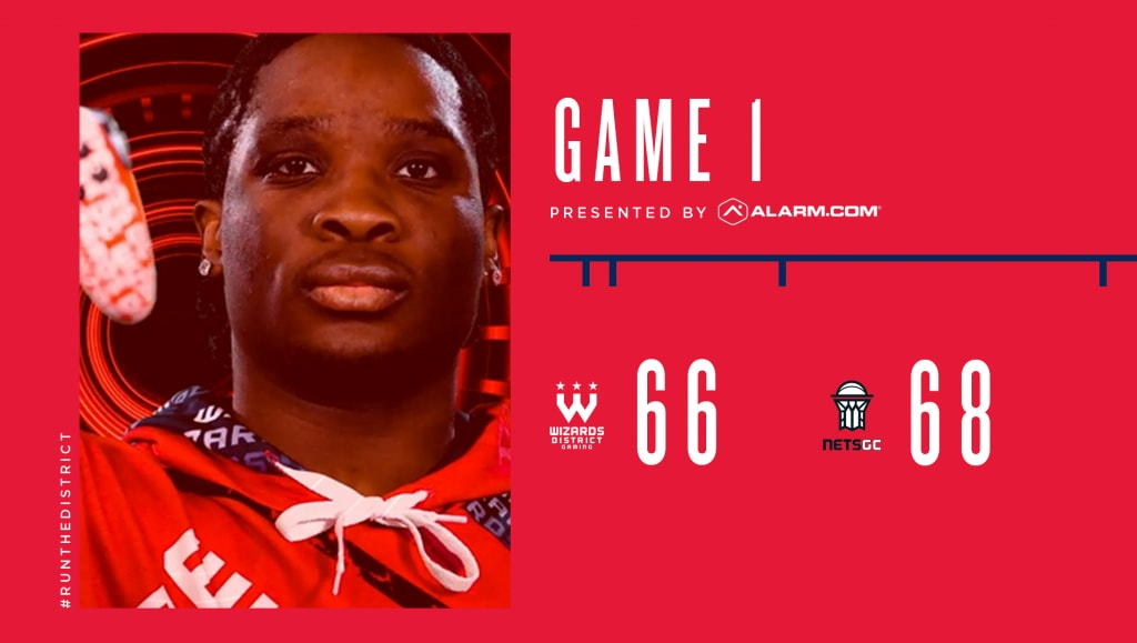 Game 1 Final Score: NetsGC 68, Wizards District Gaming 66