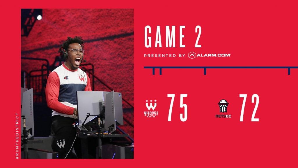 Game 2 Final Score: Wizards District Gaming 75, NetsGC 72