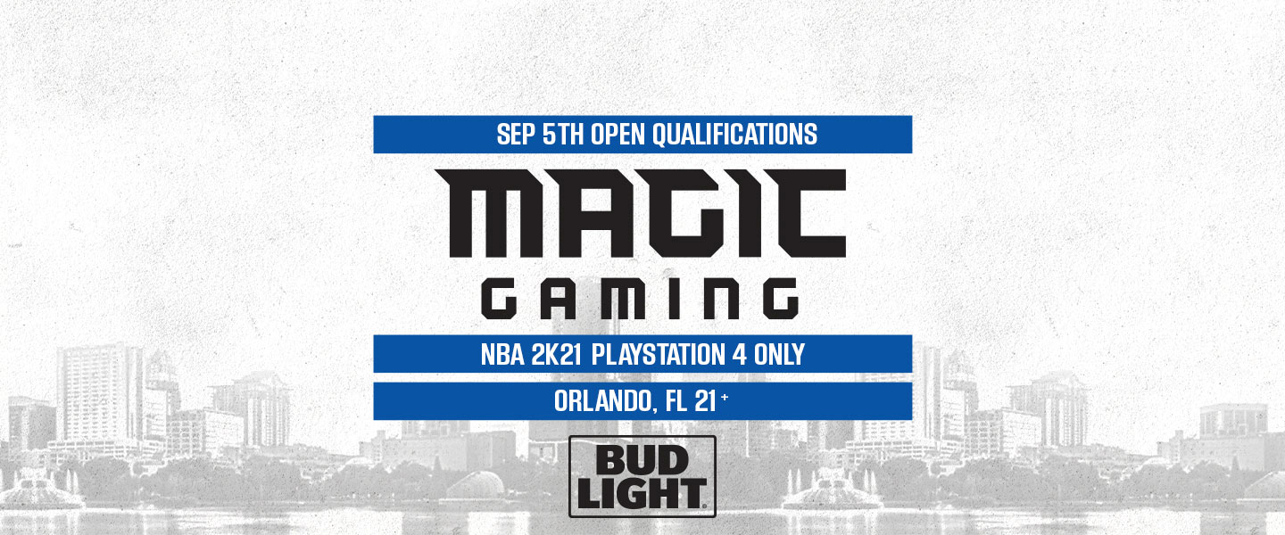 September 5 Open Qualifications, Magic Gaming NBA2K21 Playstation 4 only, Orlando FL, 21+