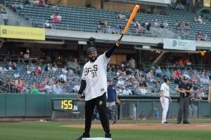 Demar Deedz Butler of Jazz Gaming at the Salt Lake Bees