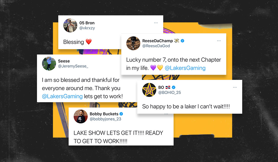 Lakers Gaming 2021 Draft Tweets