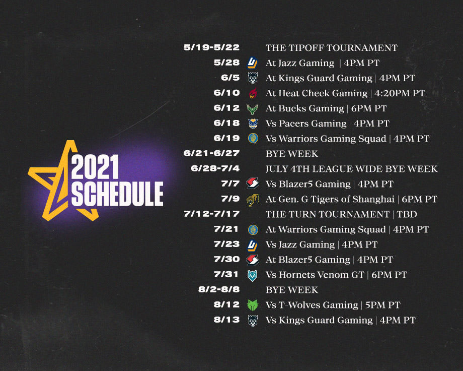 Lakers Gaming 2021 Schedule Announcement