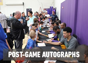 Post-game autographs