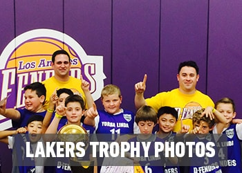 Lakers Trophy Photos