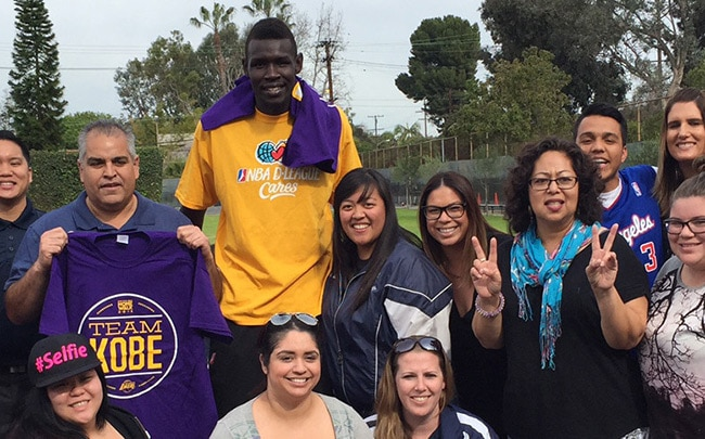 D-Fenders Visit Nativity Catholic School