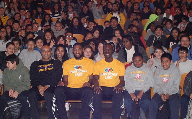 D-Fenders Visit Hollenback Middle School