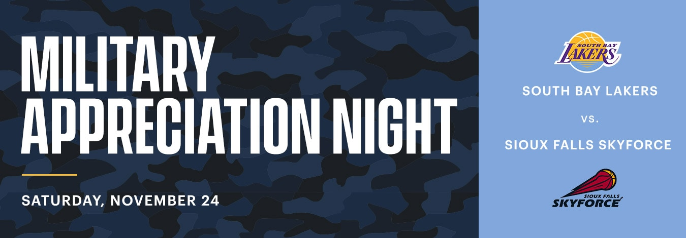 South Bay Lakers Military Appreciation Night