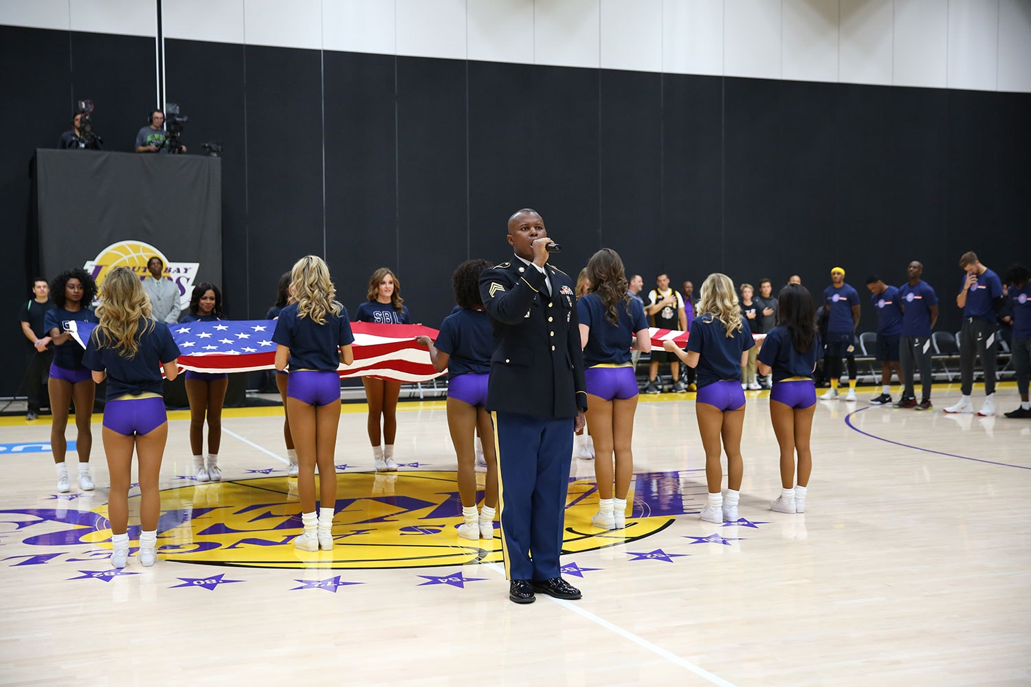 National anthem at South Bay Lakers Military Appreciation Night