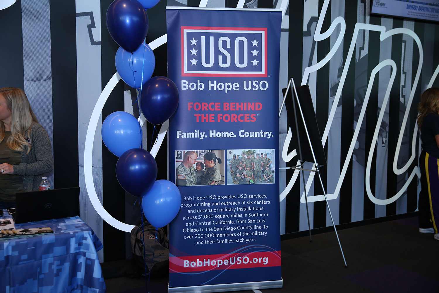 Bob Hope USO at South Bay Lakers Military Appreciation Night