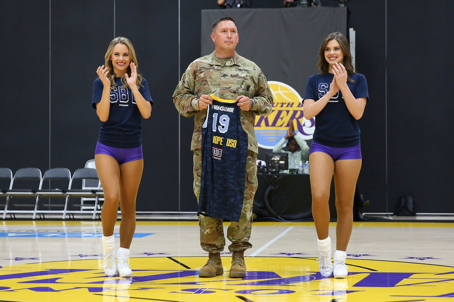 Jersey raffle at South Bay Lakers Military Appreciation Night