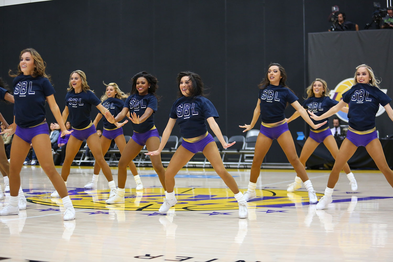 Laker Girls at South Bay Lakers Military Appreciation Night