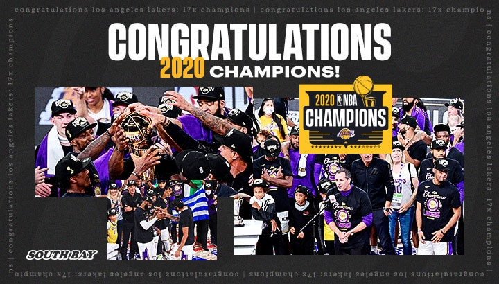 Lakers 2020 Champions