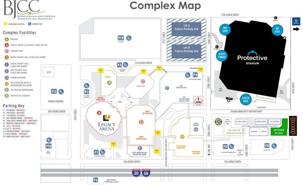 Legacy Arena Parking Map