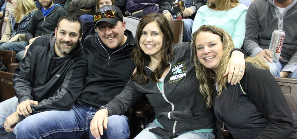 Season Ticket Holders enjoying the Skyforce Game