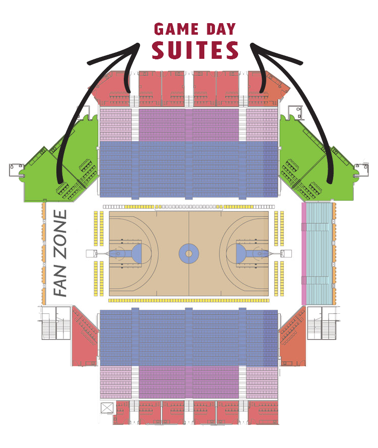 Location of Game Day suites in sanford pentagon