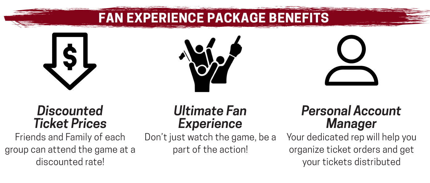 Fan Experience Packages deliver the ultimate fan experience while offering discounted ticket prices.
