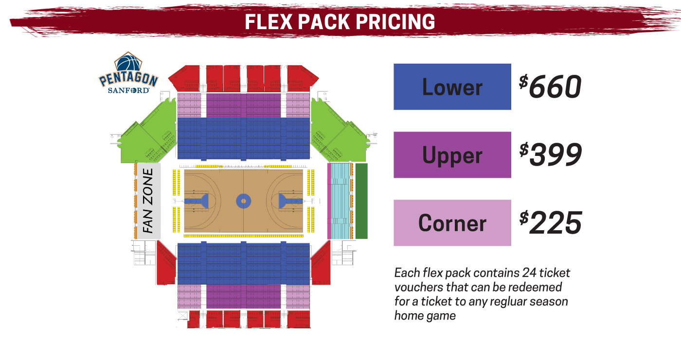 Flex Pack pricing for the 2019-20 Skyforce season