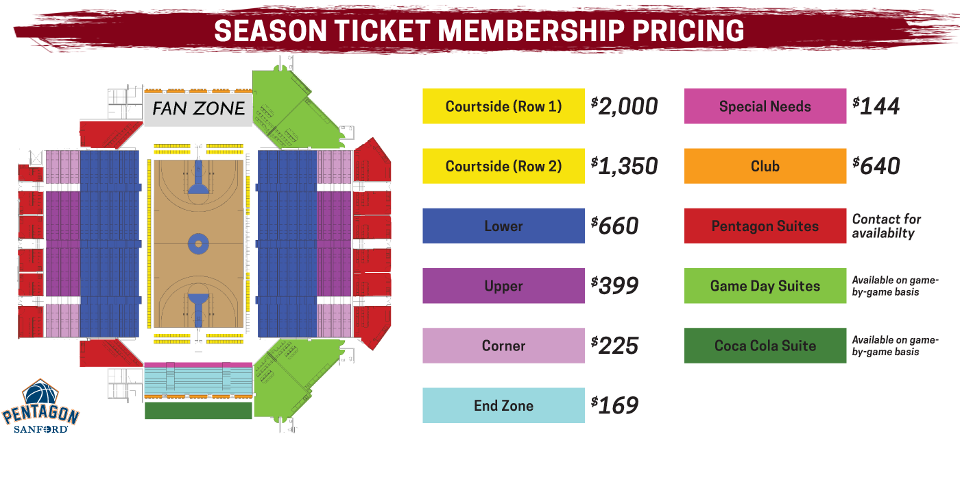 Skyforce season ticket pricing for 2019-20