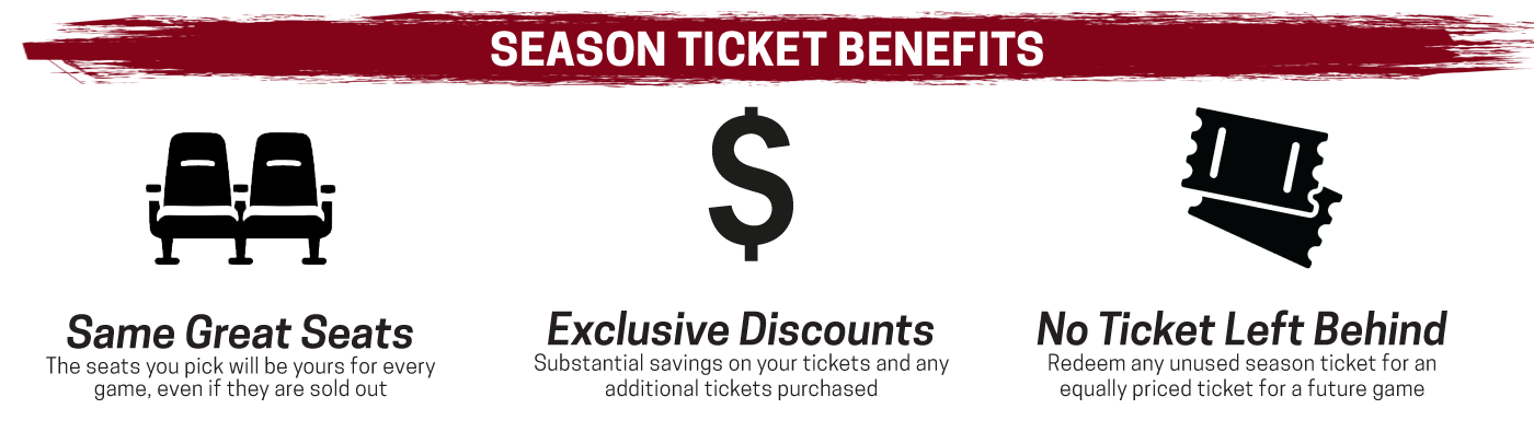 Skyforce offer a wide variety of benefits with their season ticket packages