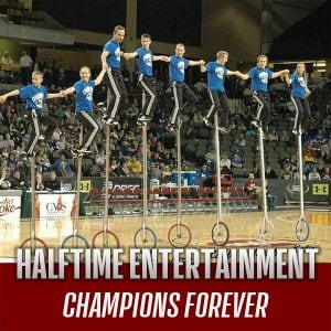 Performing at halftime is Champions Forever