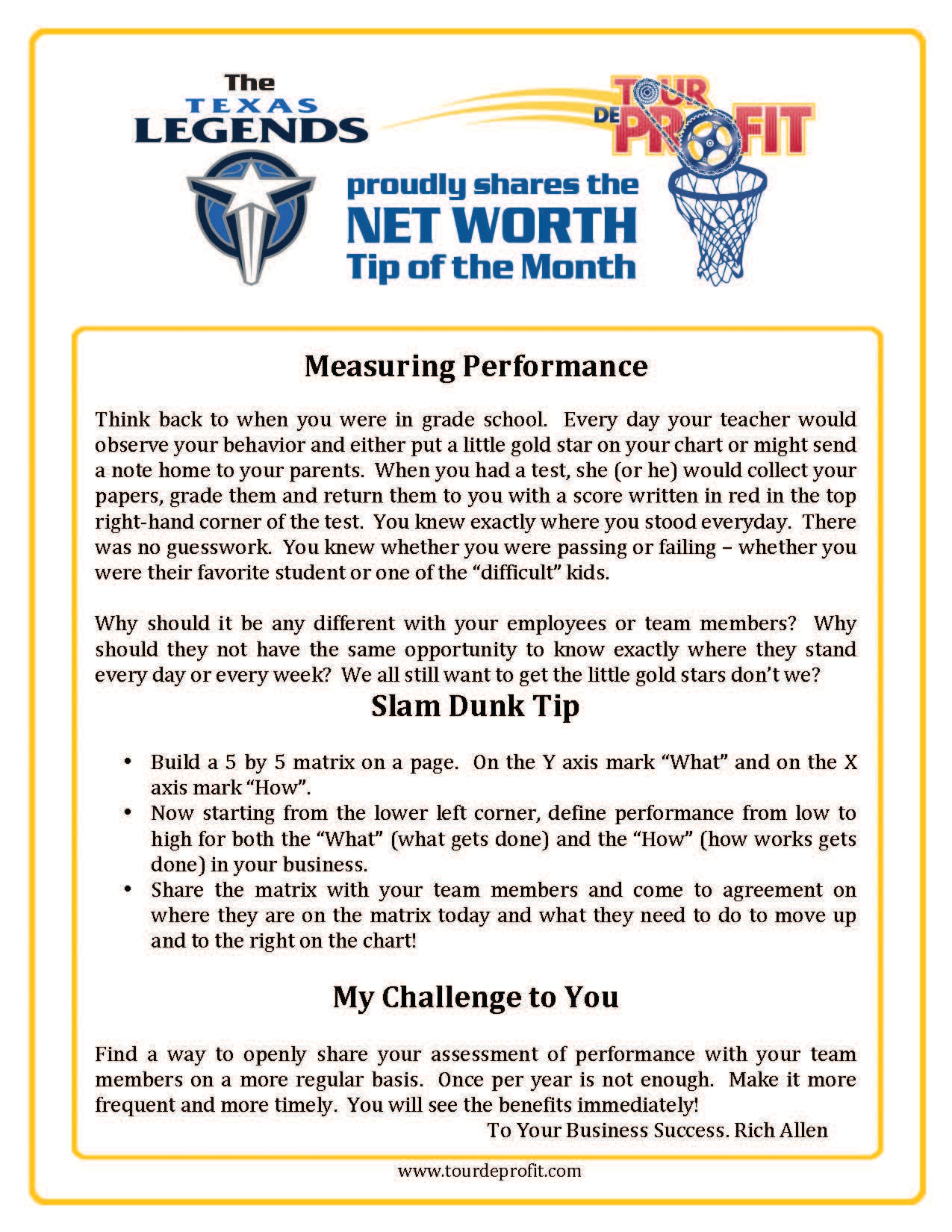 1411NW-Measuring Performance