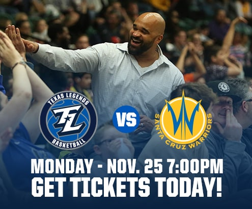 Tickets for Legends vs Warriors on Monday November 23rd