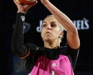 Elena Delle Donne (19 points, six rebounds and six assists) and the Sky ended the Fever's winning streak Tuesday. (Gary Dineen/NBAE/Getty Images)