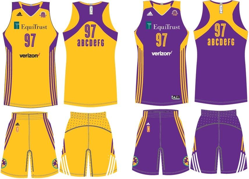 Los Angeles Sparks Uniform