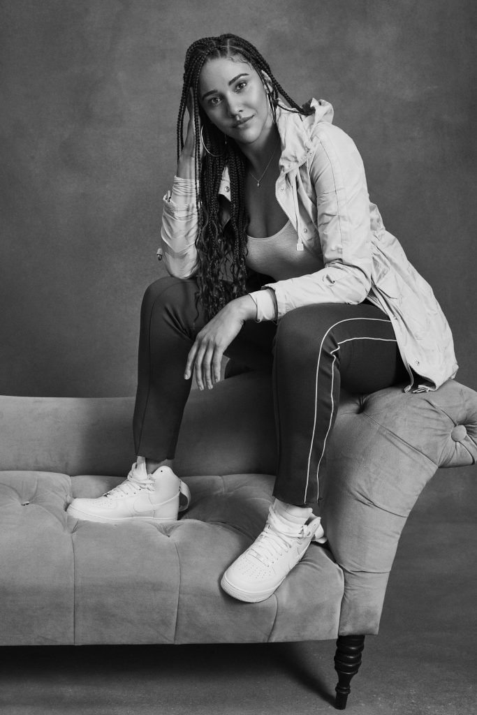 Photo of Natalie Achonwa of Indiana Fever in collaboration with Red Hook Labs