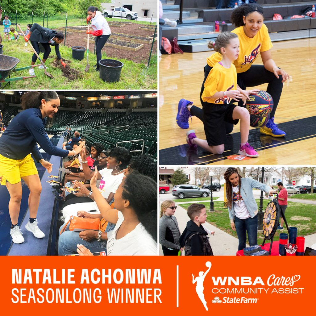 Natalie Achonwa Seasonlong WNBA Community Assist Award