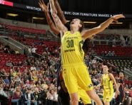 SEATTLE, WA - JUNE 24:  Breanna Stewart #30 of the Seattle Storm goes forthe lay up against the Connecticut Sun on June 24, 2016 at Key Arena in Seattle, Washington.