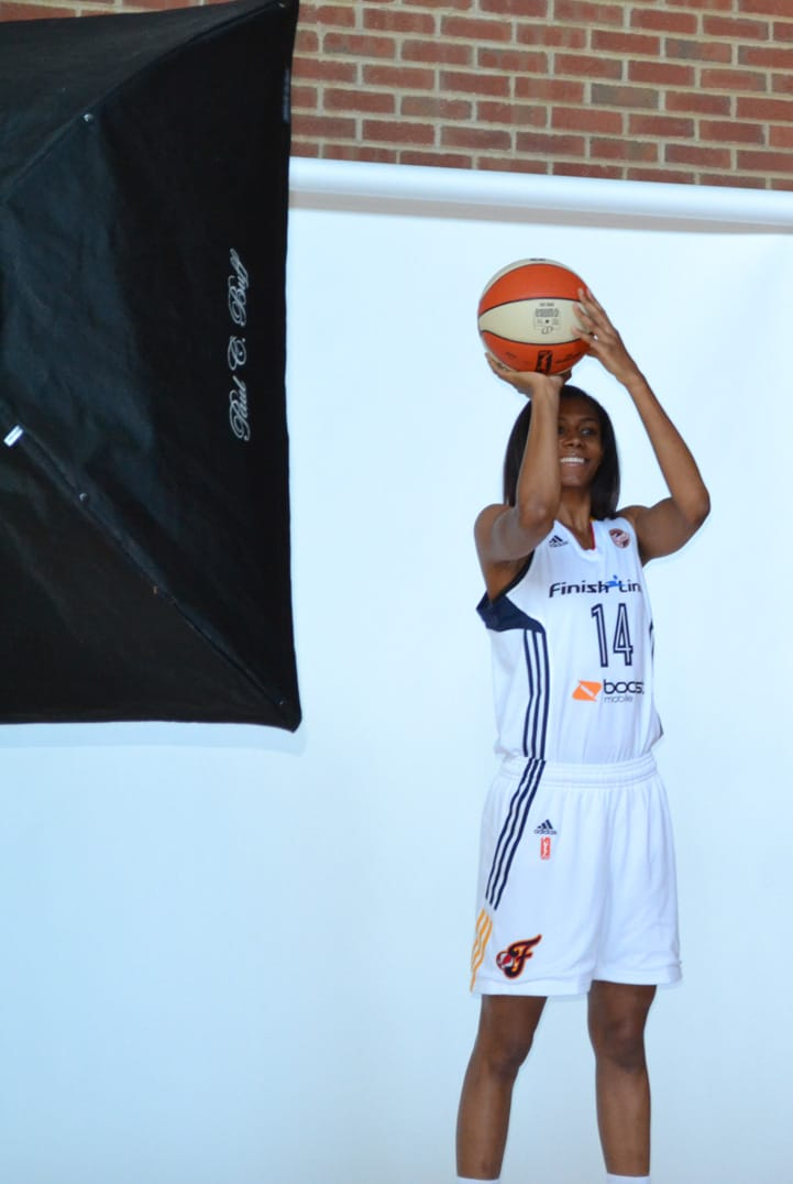 Briana Butler poses for a photo during Indiana Fever Media Day.