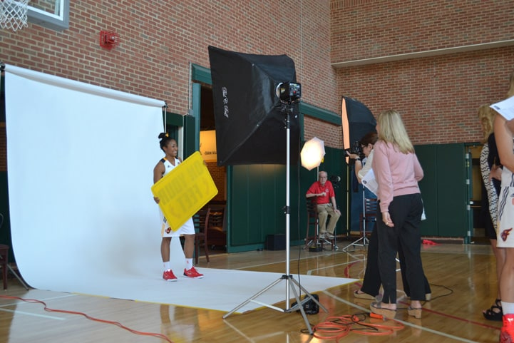 Briann January poses for a photo during Indiana Fever Media Day.
