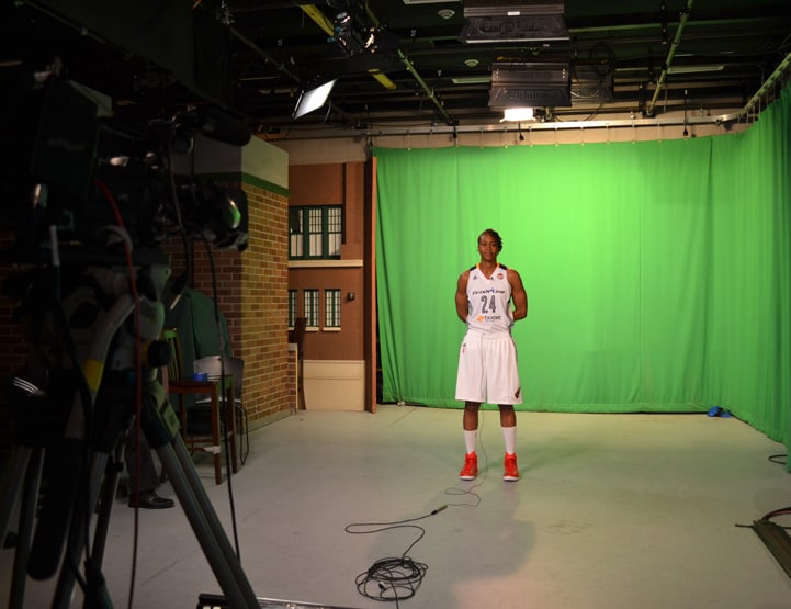 Tamika Catchings during Indiana Fever Media Day.