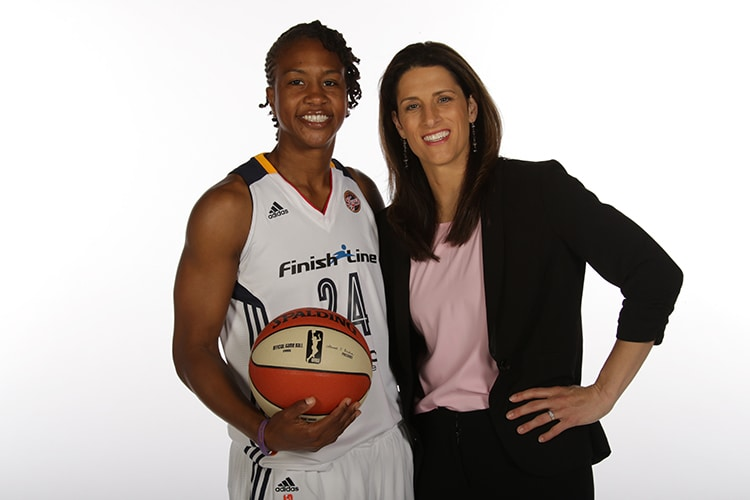 Tamika Catchings and Stephanie White