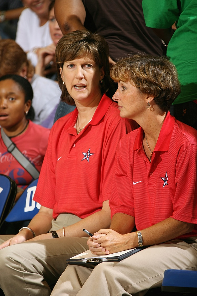 Goestenkors coaching the USA Women's National Team