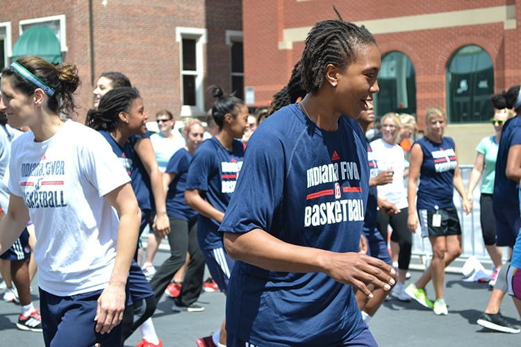 Tamika Catchings at Workout Wednesday