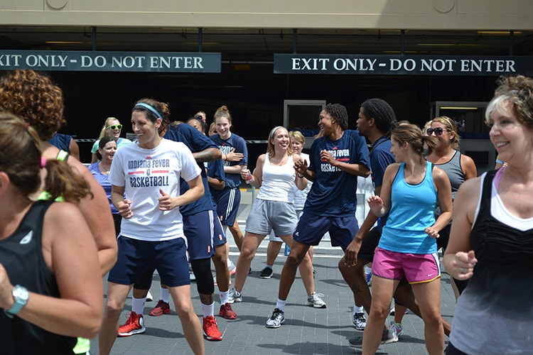 Fever players show off their zumba moves at Workout Wednesday