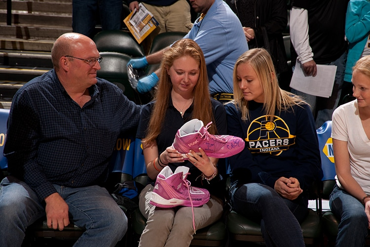 Lauren Hill at the Pacers preseason game