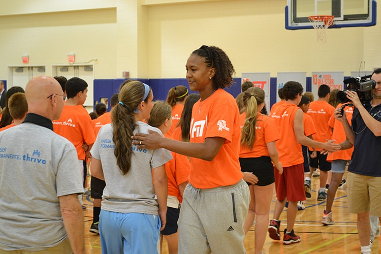 Tamika Catchings at the WNBA Fit All-Star Clinic