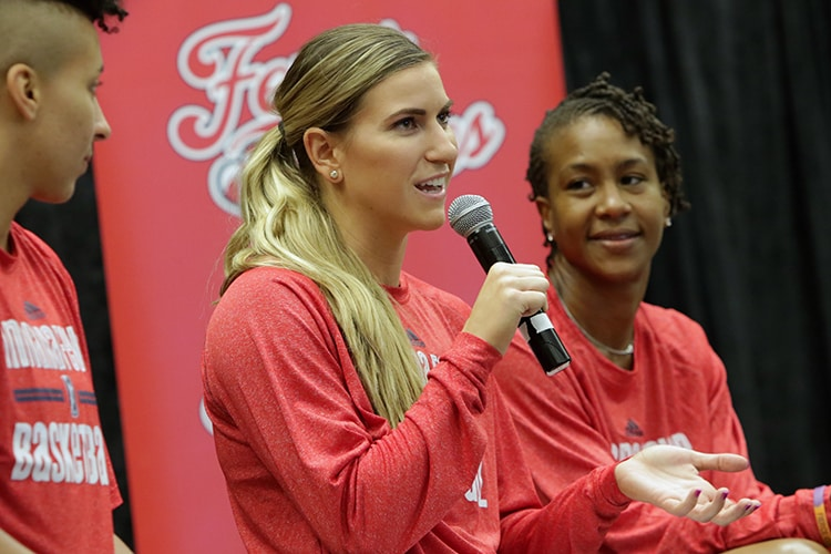 Layshia Clarendon, Jeanette Pohlen, Tamika Catchings