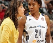 Coach Stephanie White and Tamika Catchings