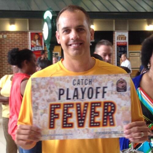 Frank Vogel with Fever sign