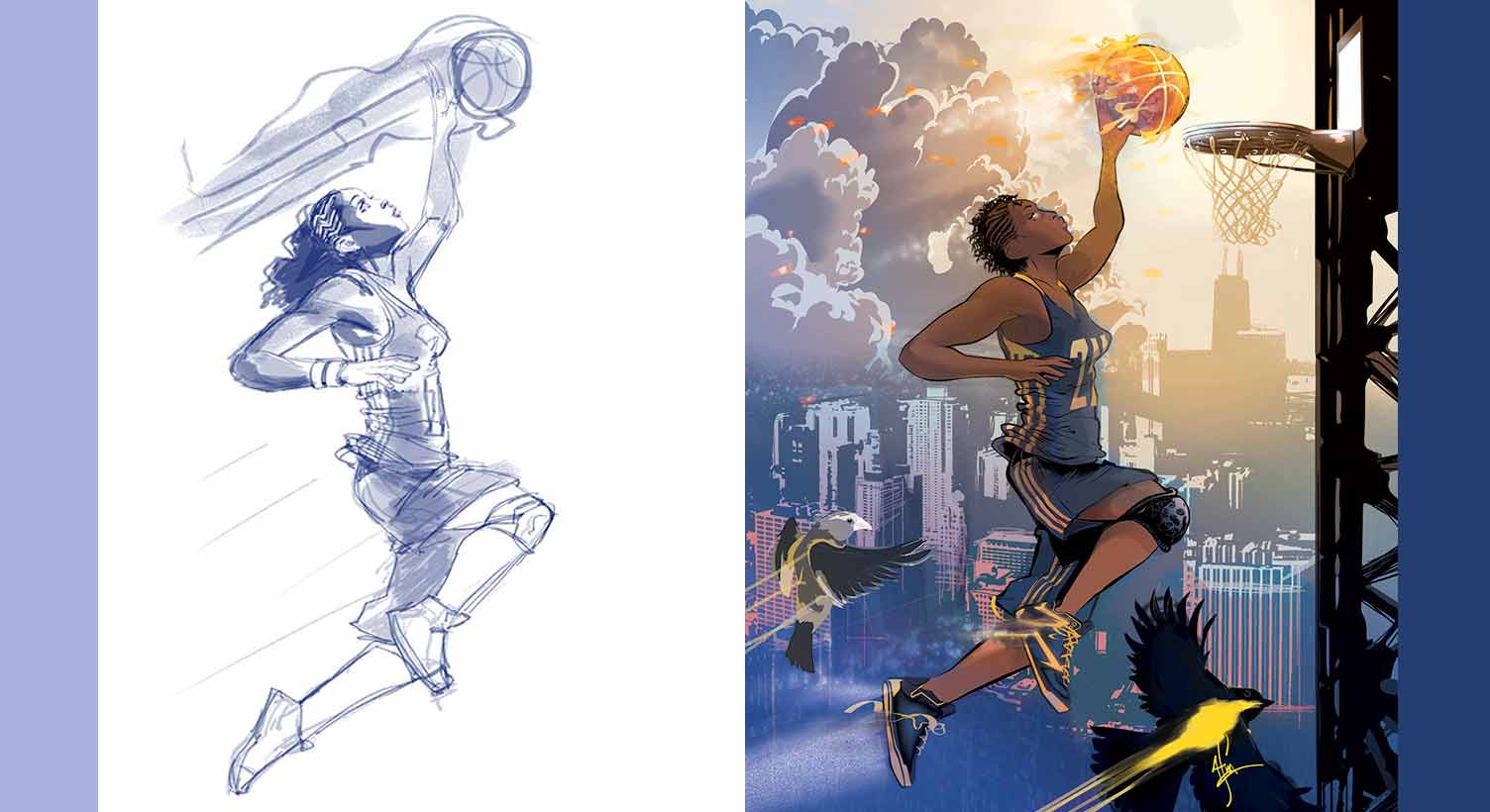 Tamika Catchings Marvel graphic