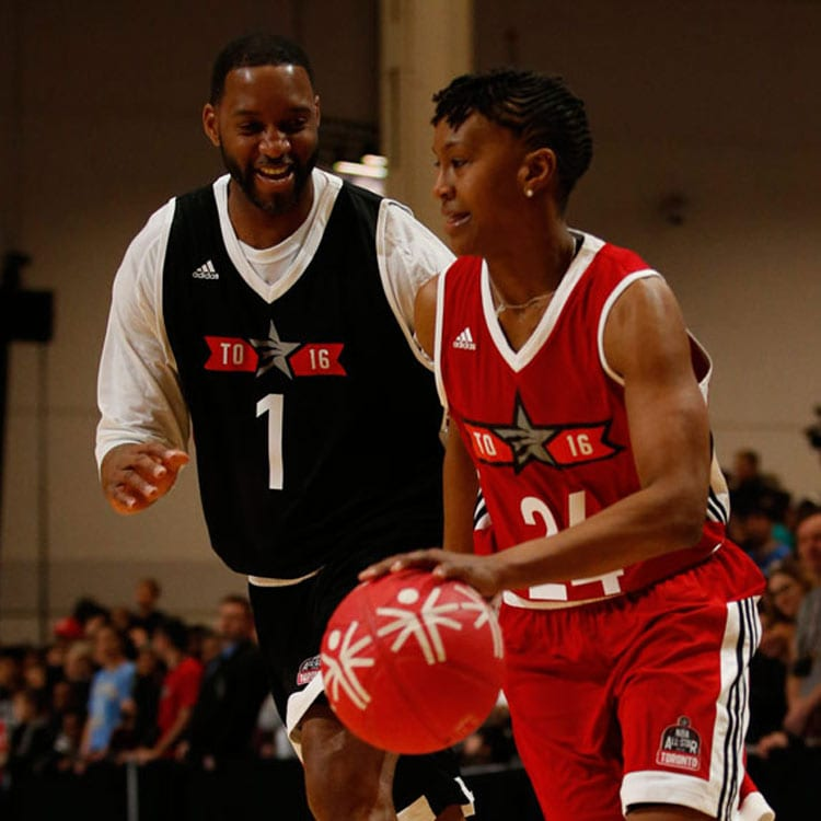 Tamika Catchings and Tracy Mcgrady