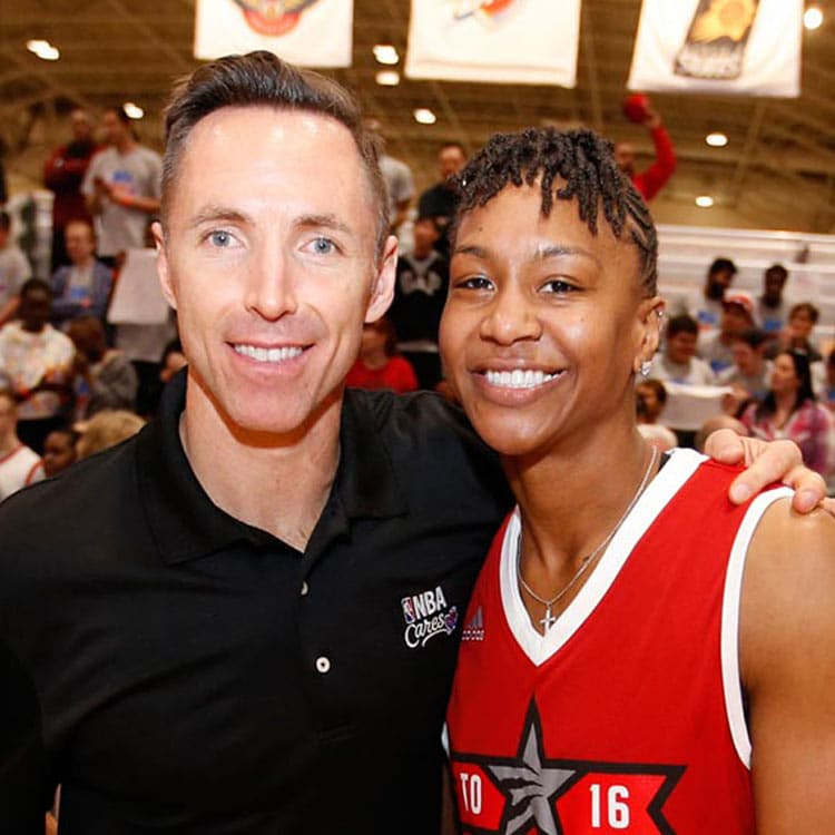 Tamika Catchings and Steve Nash