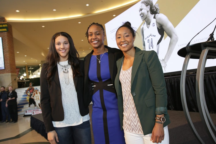 Tamika Catchings, Briann January, Natalie Achonwa