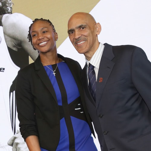 Tamika Catchings and Tony Dungy