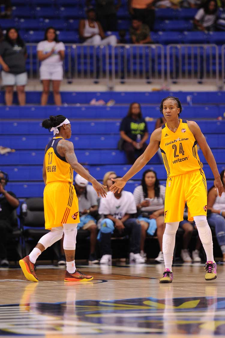 Tamika Catchings, Erica Wheeler