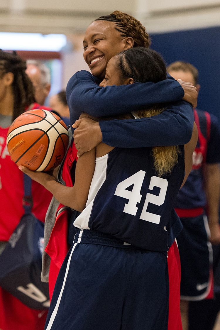 Tamika Catchings and Tiffany Mitchell
